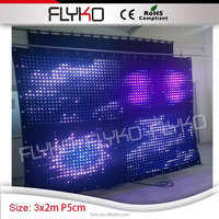 rohs led lights DJ light BARS Stage curtain P5 2*3