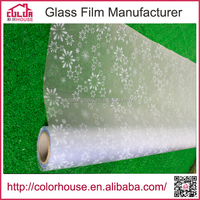 pattern embossed decorative PVC window film for furniture