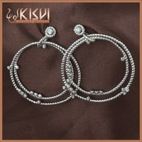 925 Sterling Silver Jewelry prong setting AAA zircon fashion circular earrings
