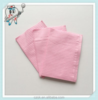 2 Ply Paper + 1 Ply Poly Film pink Dental Products China Disposable Medical Dental Bib