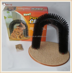Purrfect arch cat scratcher toy as seen on TV with bristle cat scratcher cardboard