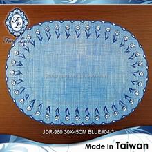 Premium Ocean Blue Plastic Table Mat