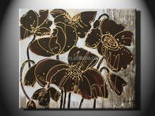 2014 Wholesale Modern Flower Painting Decoration