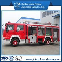 De la chine SINO HOWO 4 X 2 / 4 X 4 8CBM réservoir d'eau camion de pompiers utilisé