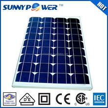Solar panel mounting 50W with CSA(UL1703)
