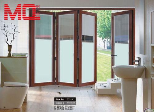Haute qualit pliage entr e portes en verre avec stores for Porte accordeon exterieur