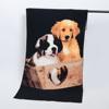Microfiber reactive sea scenery printed dog beach towel