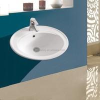 sanitary white basin wash basin above counter sink ceramic cabinet basin
