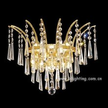 modern home bedroom crystal wall sconce