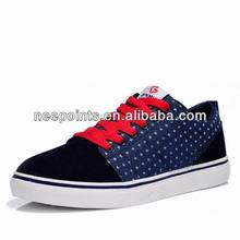 2014 high quality men leather sneaker with rubber outsole