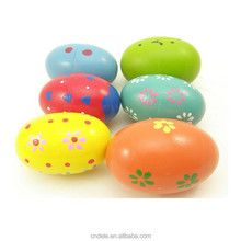 kids DIY wooden toy painted color egg educational artificial wooden toy egg