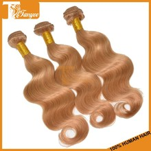 New Coming Grade 5A Indian Remy Hair Extension Body Wave Color#27 Blonde Human Hair Weave