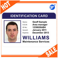 Portrait printing plastic voter id card format