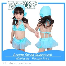 Hot Child Baby Sex Model Fabric Printing Sexy Open Bikini For Children