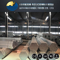 ASTM A 53 ERW steel pipe / Pre galvanized steel pipe tube / Steel pipe in stock for greenhouse frame