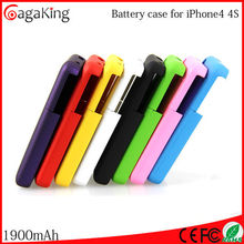 Portable charger for iphone 4/4s high quality 1900mAh mobile phone case
