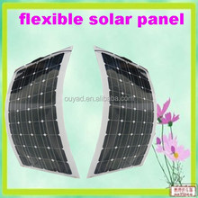 Hot sell new designed high efficiency semi flexible solar panel 100w for RV car / boats/ marine from China factory manufacturer