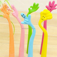 New Popular Wholesale Fashion Brand New Bendable Cartoon Novelty Hand Gesture Souvenir Ballpoint Pen Student Gift