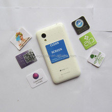 Bussiness gifts adhesive microfiber sticky mobile phone screen cleaner