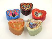 Professional Heart Shape Chocolate Gift Tin Box with high quality