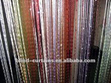 Decorative lighted beads curtain
