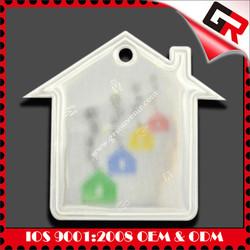 transparent soft enamel fiat car logo keychain