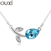 OUXI 925 sterling silver jewelry made with Swarovski elements 10710