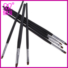 7pcs/set black Professional Acrylic Nail Art brush/pen Set