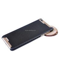 Unique Black Carbon Fiber Mobile Phone Back Shell Housing black Cover phone Case For i phone 6s