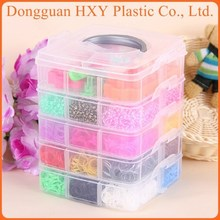 2014 Very Hot Five Layers DIY Wholesale Rainbow Band Loom Kit 600pcs Original Loom Band Kit With Charm
