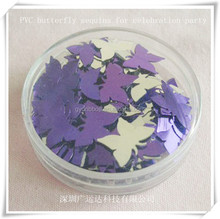 Frisbee Paper Confetti/Party PET Confetti /Purple Color Butterfly Shape Confetti