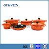 6pcs cast iron enamel cookware sets on sale