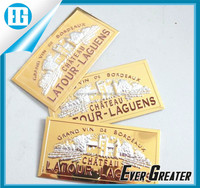 custom label badge metal name plate sticker, metal logo sticker
