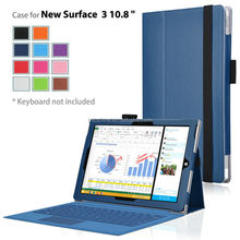 2015 New Stand leather case cover for Microsoft Surface 3 10.8 inch protective skin case