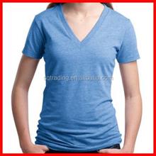 Women's deep v-neck sexy t shirt
