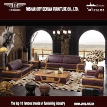 Modern living room furniture heated leather sofa