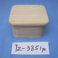 special rectangle paulownia wooden storage crate with round corner