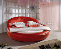 2013 modern round bed ,elegant design bedroom furniture