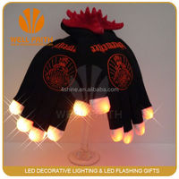 LED flashing finger light party gloves