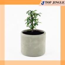 Decorative garden plant smooth ivory concrete pots