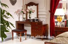 2015 vendita calda fabbrica direttamente più moderni american mobili camera da letto vestirsi elegante tavolo e sedia dr4001