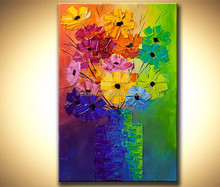handmade colorful abstract picture on canvas