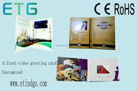 """""""A4 A5"""" size customized lcd video greeting card promotional video card for advertising promotion"""