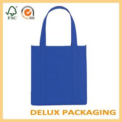 Blue high quality non woven fabric tote shopping hand bag
