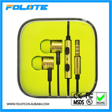 Real earphone for Xiaomi PISTON 2.0 Earphones Gold Brown Volume Control for Android