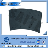Japan coach/bus series front brake lining for Hino AK-1J
