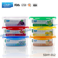 Best selling bpa free PPBX-012 plastic food containers with sealed lid 1200ml