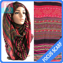 aztec tribal Fashion hijab scarf,hot hijab sexy muslim scarf