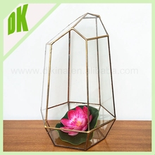 Alibaba top I gold supplier // handle with care, it is still fragile //2015 geometric Christmas clear hollow glass ball