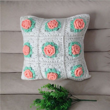 Acrylic Handmade wool Knit floor Pillow Cushion